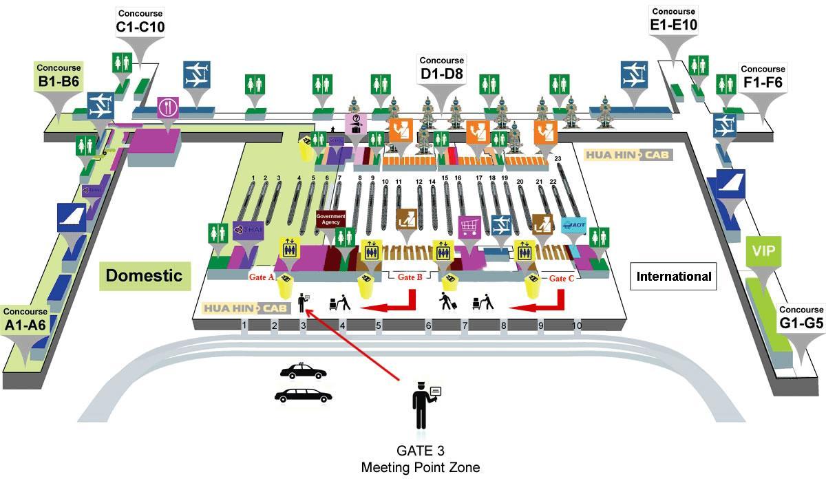 Airport Map Bangkok Bangkok Thailand Airport Map Thailand