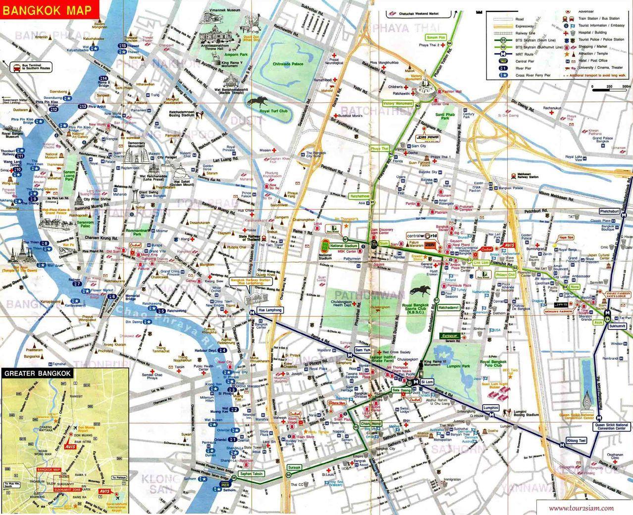 Mbk bangkok map - Map of mbk bangkok (Thailand)