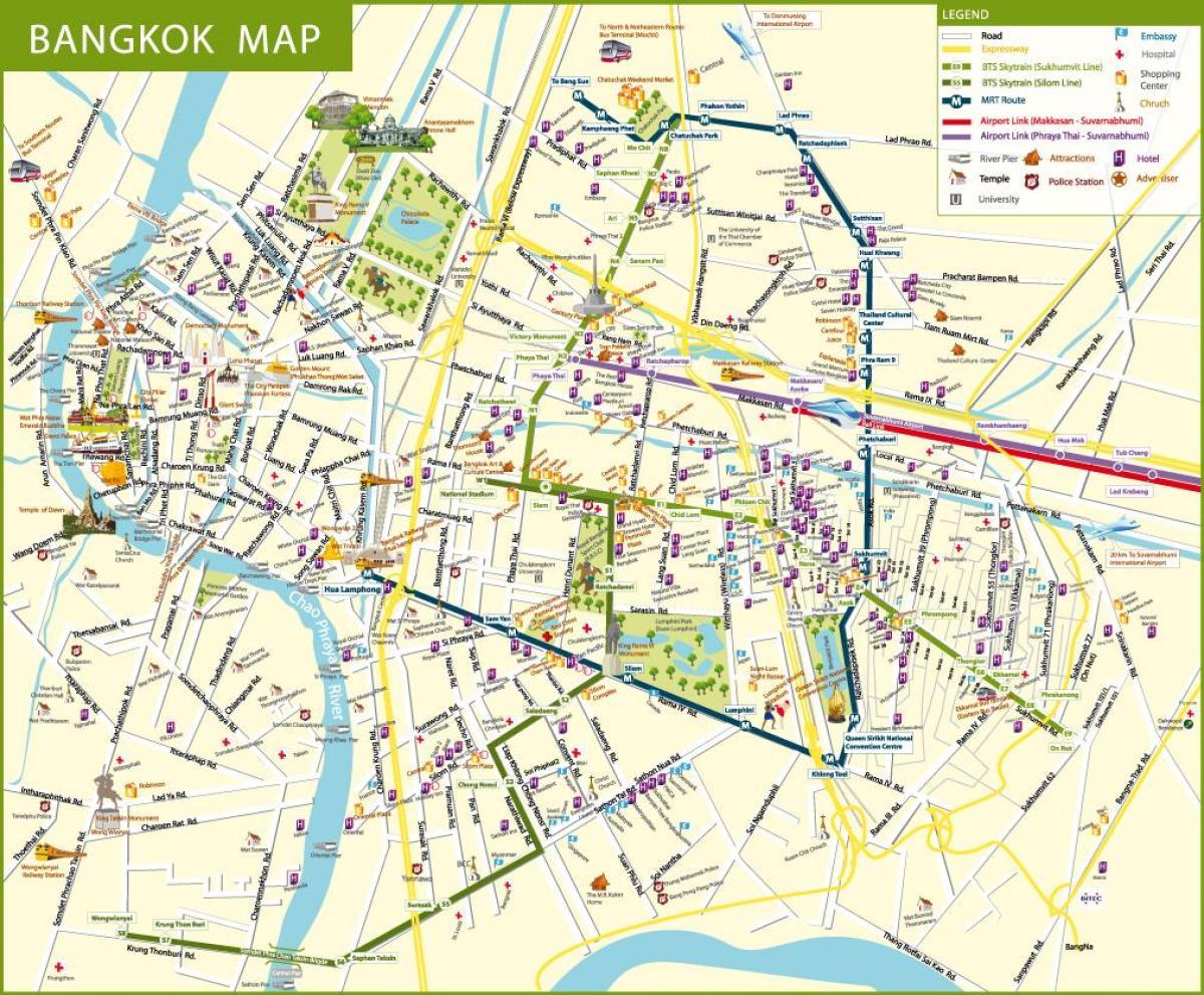 Bangkok map - Bkk map (Thailand)